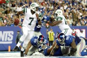Geno Smith runs out of the back of the end zone because of Jets curse